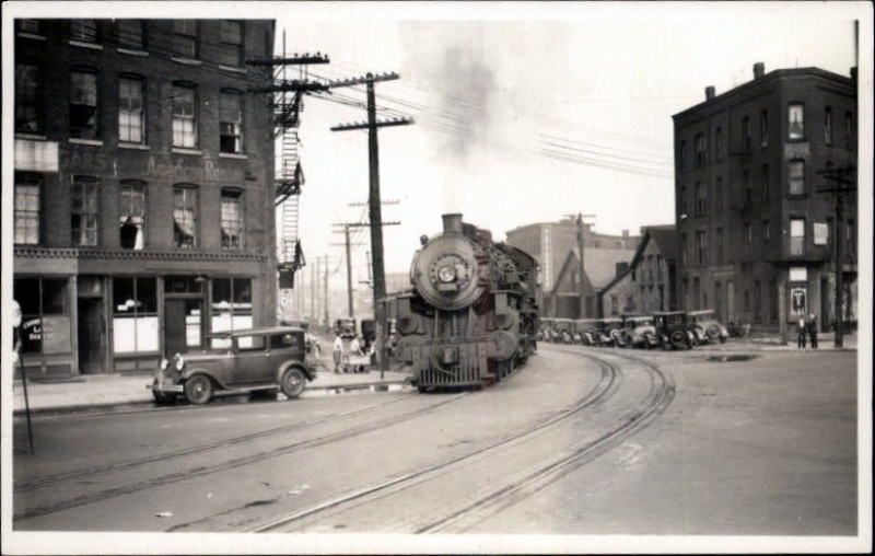 Train at Lower Terrace and Church St.